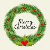 Merry christmas colorful card design Stock Photos