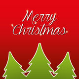 Merry christmas colorful card design Royalty Free Stock Photo