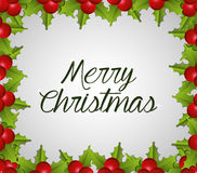 Merry christmas colorful card design Stock Image