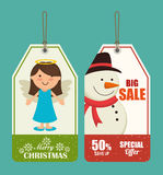 Merry christmas colorful card design. Vector illustration eps 10 Royalty Free Stock Photography