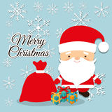 Merry christmas colorful card Stock Images
