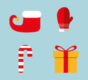 Merry christmas colorful card Stock Photography