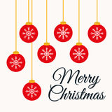 Merry christmas colorful card Royalty Free Stock Photo