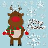 Merry christmas colorful card Stock Photos