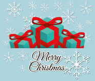 Merry christmas colorful card Royalty Free Stock Photography