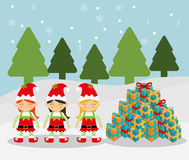 Merry christmas colorful card Royalty Free Stock Images