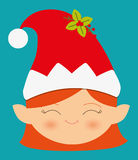 Merry christmas colorful card Stock Image