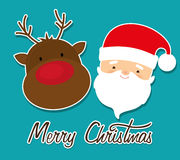 Merry christmas colorful card Royalty Free Stock Photos