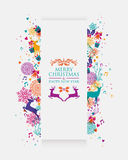 Merry Christmas colorful 3D banner Stock Image