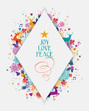 Merry Christmas colorful elements greeting card Royalty Free Stock Image