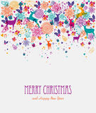 Merry Christmas colorful greeting card Stock Photo