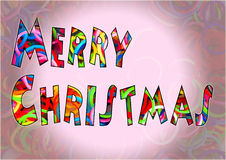 Merry Christmas colorful loom bands multi color. Merry Christmas colorful loom bands multi color stock illustration
