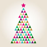 Merry Christmas colorful mosaic tree Royalty Free Stock Photography