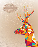 Merry Christmas colorful reindeer shape background. Trendy Christmas colorful reindeer transparent geometric elements grunge background. Vector file layered for Royalty Free Stock Photography