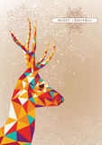 Merry Christmas colorful reindeer shape. Stock Photo