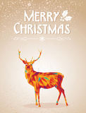 Merry Christmas colorful reindeer shape. Trendy Christmas colorful reindeer transparency geometric elements grunge background. EPS10 vector with transparency Royalty Free Stock Photography
