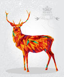 Merry Christmas colorful reindeer shape. royalty free stock photos