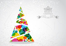 Merry Christmas colorful tree shape. Stock Photography