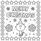 royalty free christmas coloring pages   Merry Christmas. Coloring Page. Vector Illustration. Stock ...