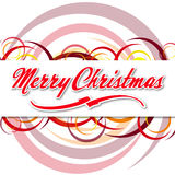 Merry Christmas with coloured circles Stock Image