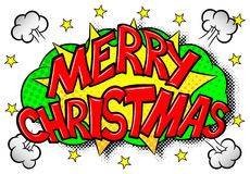 Merry Christmas comic speech bubble Royalty Free Stock Photos