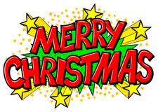 Merry Christmas comic speech bubble Royalty Free Stock Images