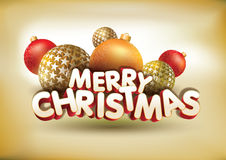 Merry Christmas composition. Vector abstract Merry Christmas composition. All elements are grouped and layered in vector file Royalty Free Stock Photos