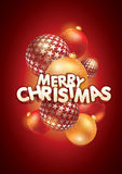 Merry Christmas composition Royalty Free Stock Images