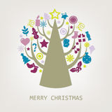 Merry Christmas Composition. Vector Royalty Free Stock Photos
