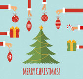 Merry christmas concept in flat style Royalty Free Stock Image