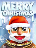 Merry Christmas concept illustration of Santa Claus Royalty Free Stock Photography