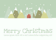 Merry Christmas. Christmas concept Land Scape Royalty Free Stock Photos