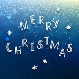 Merry Christmas congratulation blue card Stock Photo