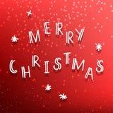 Merry Christmas congratulation red card Stock Photos
