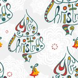 Merry christmas congratulation seamless pattern Stock Images