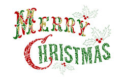 Merry Christmas congratulation text Royalty Free Stock Images