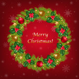 Merry Christmas Congratulation. Vector Royalty Free Stock Photos