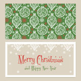 Merry Christmas Congratulations card with Royalty Free Stock Photography