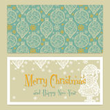 Merry Christmas Congratulations card with Stock Photography