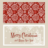 Merry Christmas Congratulations card with Stock Photo