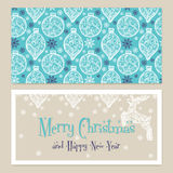 Merry Christmas Congratulations card with Royalty Free Stock Photos