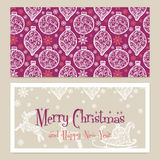 Merry Christmas Congratulations card with Stock Images