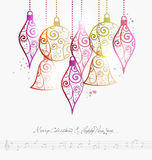 Merry Christmas contemporary baubles Royalty Free Stock Photo