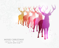 Merry Christmas contemporary ideas Stock Image
