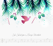 Merry Christmas contemporary musical card Stock Image