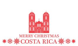 Merry Christmas Costa Rica Royalty Free Stock Photography