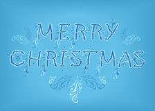 Merry Christmas. Country font Stock Image