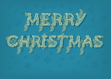 Merry Christmas. Country font royalty free stock image