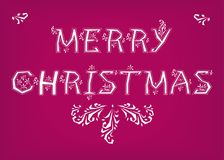 Merry Christmas. Country font Stock Images