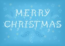 Merry Christmas. Country font Stock Photography